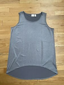 Silver Metallic Chicos Size 2 Tank Top High Low Base Layer Shell Holiday Large