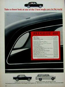 "1964 Peugeot 403 Original Print Ad-8.5 x 11"""
