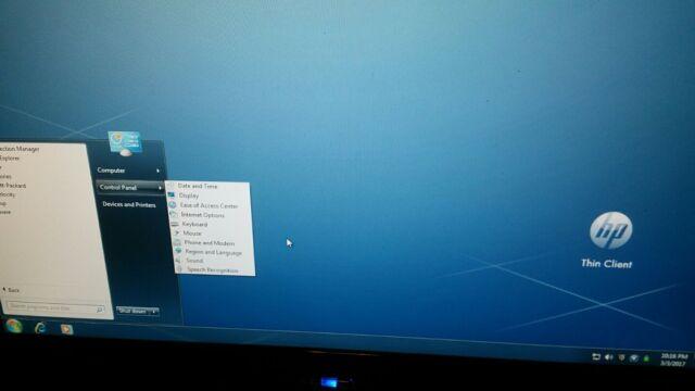 HP T5740e Thin Client 1.66GHz 2GB RAM 4GB Flash, Windows 7E