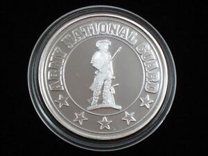 1 oz Silver Round - .999 silver * U. S. Army National Guard * (S-409)