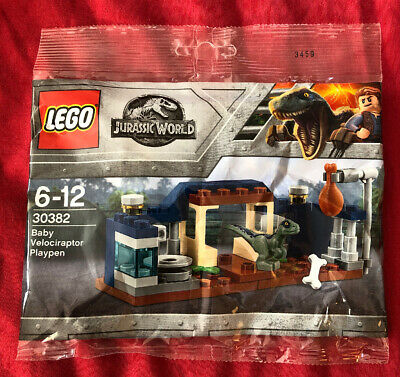 Lego 30382-LEGO Jurassic World-Baby Velociraptor Parc polybag-NEUF
