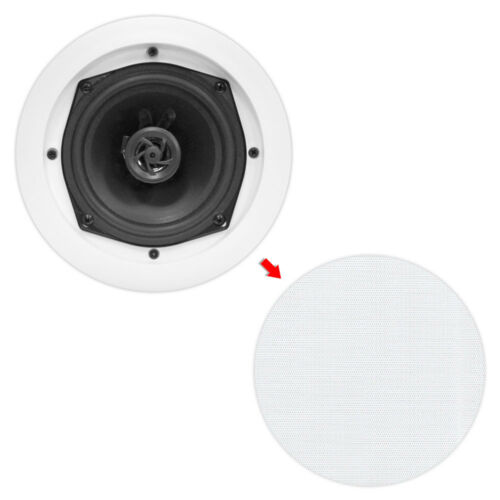 Pyle PDIC51RD 5.25 Inch 150W Round White In Ceiling Wall Flush Speakers Eight 8