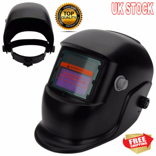 Welding Helmet Mask Auto Darkening Welders Arc Tig Mig Grinding Solar Powered UK