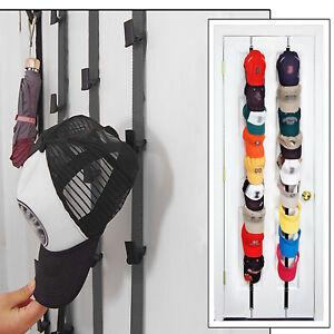 Cap Rack 16 Baseball Hats Visors Wall Door Hanger Holder Hook Storage Organizer