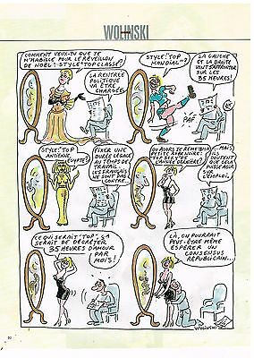 Breweriana, Beer Other Breweriana Temperate Publicité Advertising 1998 Dessin Signé Wolinski