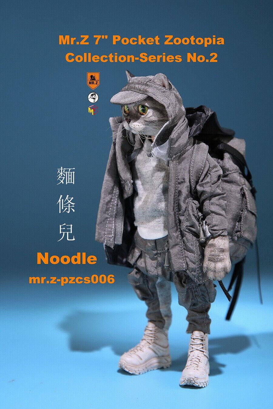Mr.Z  7 Resin Head Pocket Zootopia Noodle cifra Animal collezione giocattoli 17.2cm