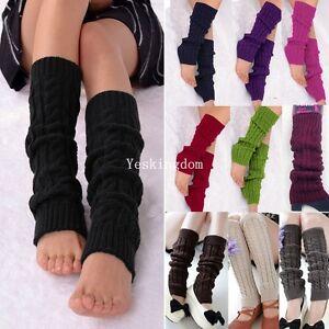 Frauen Winter Warme Beinwärmer Kabel Stricken Gestrickte Lange