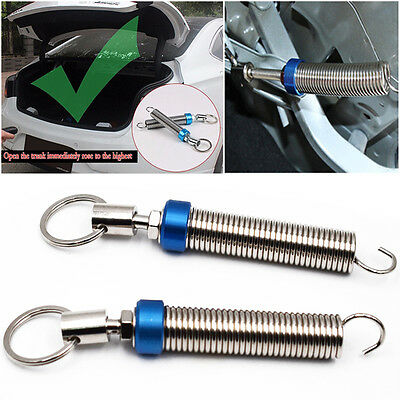 Blue One Pair Adjustable Automatic Car Trunk Boot Lid Lifting Metal Spring Part