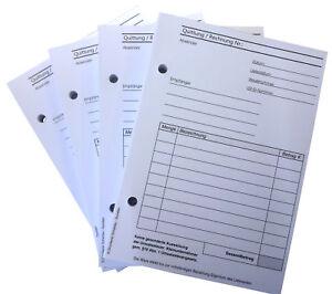 Rechnungsblock Quittung Kleinunternehmer Rechnung A6 100 Blatt