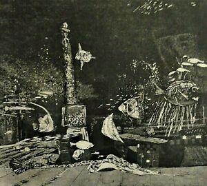 Wolfgang maestro di fabbrica (* 1941) BELLA ACQUAFORTE 1971: - ATLANTIS -