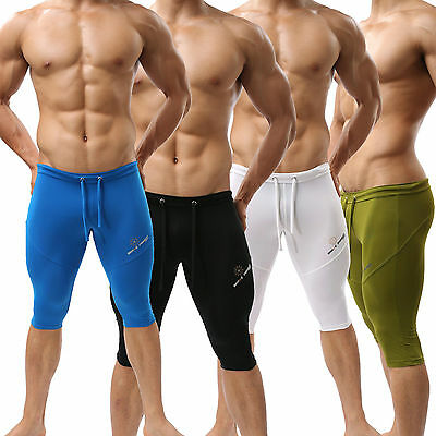 New Sexy Mens Swimwear Trunks Fitness Sports Boxer Shorts Racing Training S M L