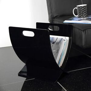 zeitungsst nder bonna magazinhalter schwarz stilvolles wohnaccessoire neu ebay. Black Bedroom Furniture Sets. Home Design Ideas