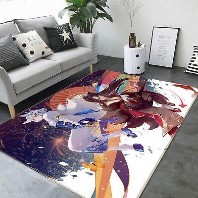 Details about  /3D Couple Umbrella Rabbit 6 Japan Anime Non Slip Rug Mat Round Elegant Carpet AU