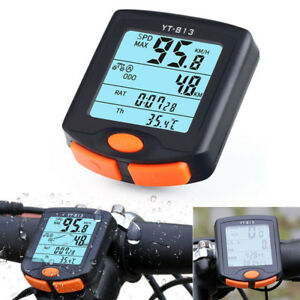 Wired-Bike-Cycling-Bicycle-Computer-Odometer-Speedometer-Backlight-Useful