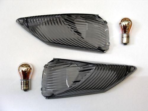 Schwarze Heck Blinker Suzuki GSX R 600 L1 L2 L3 L4 L5 L6 L7 smoked signals