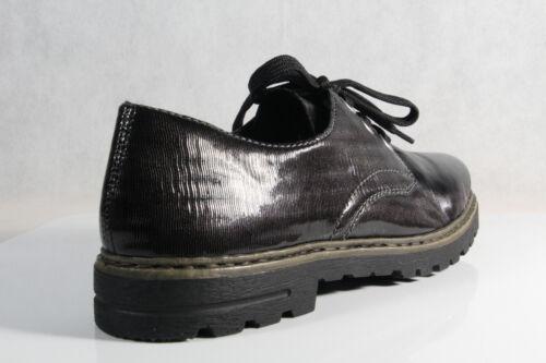 Grigio Donna Sneakers Da Rieker Basse Nuovo Lacci Scarpe M4809 Morbide Hgvq7w