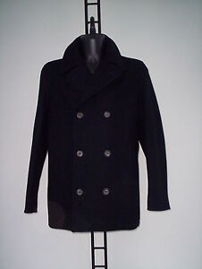 amp;g Cappotto Toppa Con Xxl Tg Pelle 54 In D Lana A4TH4