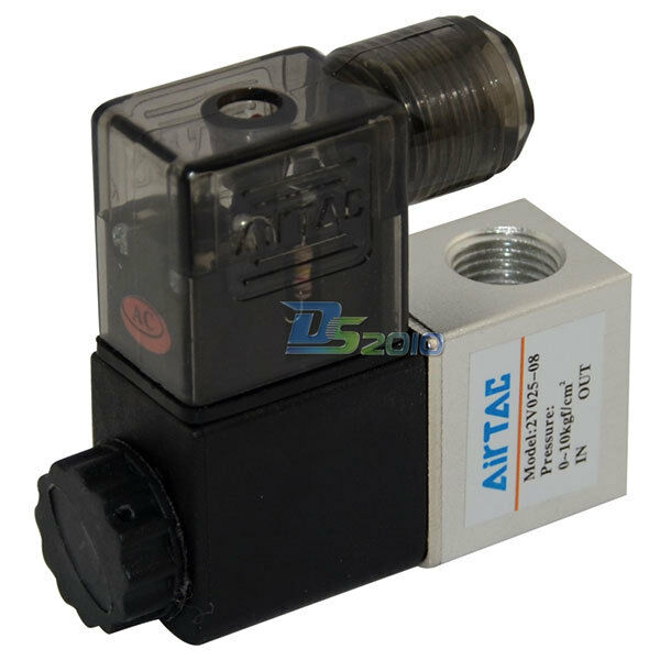"""1/4"""" DC 24V 2 way 2 position Pneumatic Electric Solenoid Valve NPT Water Air Oil"""