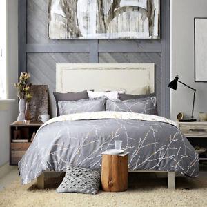 Bedsure-Duvet-Cover-Set-Grey-Ivory-Printed-Soft-for-Comforter-Queen-Pillow-Shams