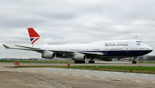 200 Lba100747 British Airways Boeing 747-400 Gcivb Negus Livrée avec support