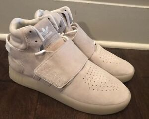 1dac40debb3451 Adidas Women s Originals Tubular Invader Strap White Shoes Sz 7.5 ...