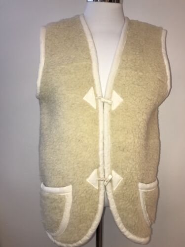 Schafwolle Fell Weste Weis 36-38 M Lammfell Neu Schaf Wolle Wool Fellweste