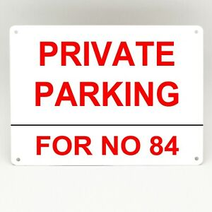 """PERSONALISED Private Parking Keep Clear METAL SIGN 8x10/"""" Safety Premises #3"""