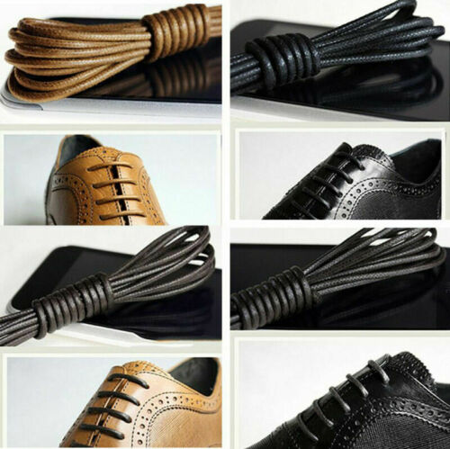 70-160cm Round Waxed Shoelaces Leather Shoes Strings Boot Sport Shoe Laces Cord