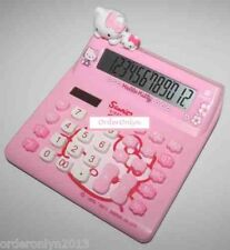 12 Digit Calculator Dual Power Large Display (Hello Kitty Design KT-520A)