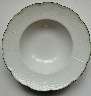 Villandry Raynaud Limoges Rim Soup Bowls 8 25 21cm Filet Vert Set Of 6 Ebay