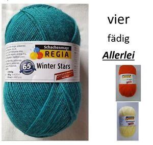 """8 Farben 100g Regia 4-Fach /"""" Trend Uni /"""" Sockenwolle Schachenmayr"""