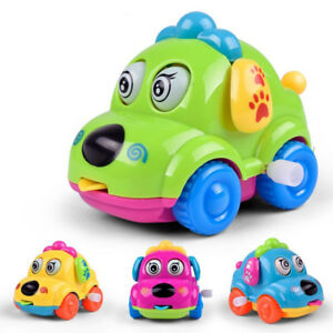Baby-Cartoon-Running-Car-Wind-Up-Toy-Clockwork-Classic-Toddler-Kids-Toys