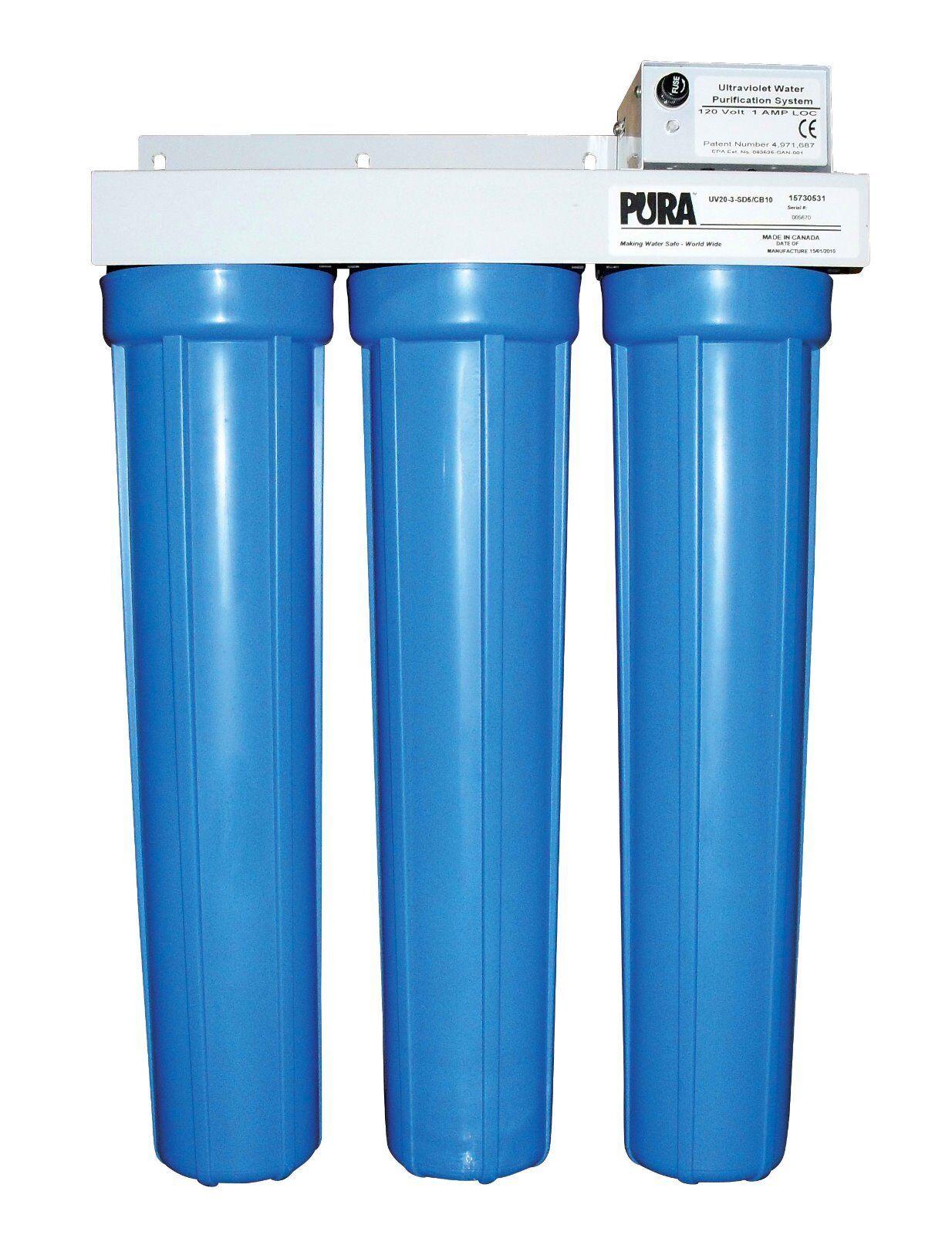 Pura UV20-3 UV Filtre à Eau Maison tout entière Purificateur ULTRAVIOLET  DISCOUNT livraison