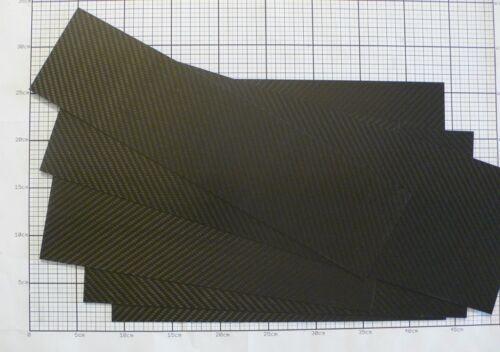 Plancha Cfk Fibra de Carbono Placas Largo hasta 150mm