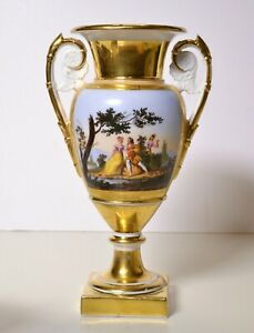 HQ-19-Antique-Empire-Neoclassical-Porcelain-Amphora-Vase-w-Love-Scene-in-Garden