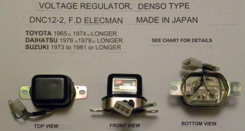 Daihatsu 76-79 Suzuki 73-81 Voltage Regulator Denso Type DNC12-2 Toyota 65-74