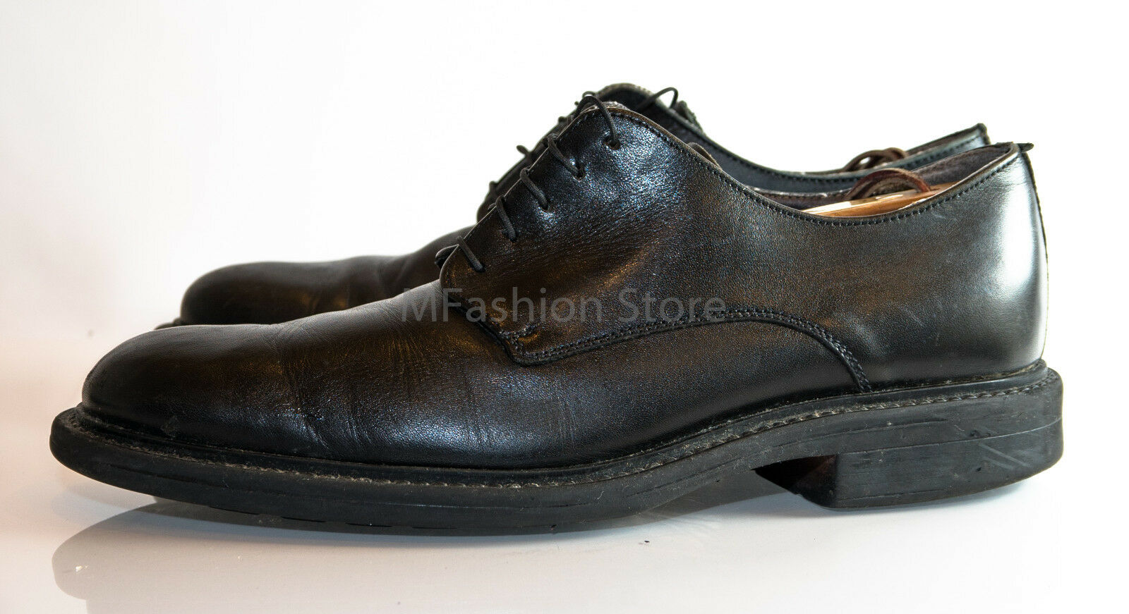Franco Fortini Black LaceUp Leather Dress Oxford Formal shoes Mens Size US 10M
