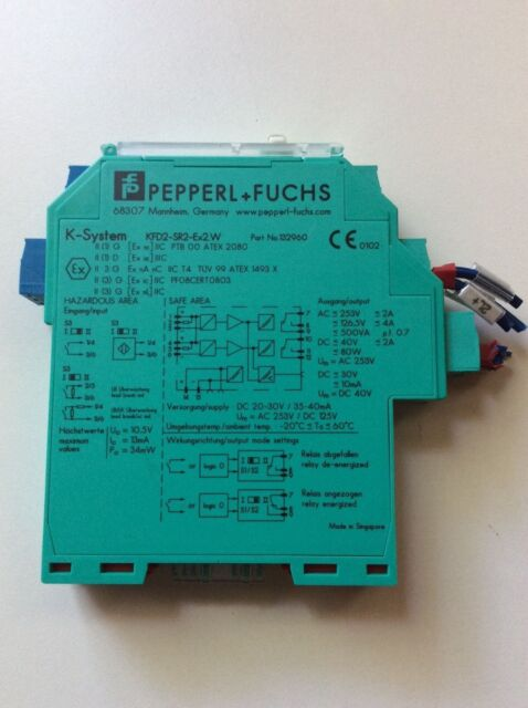 PEPPERL FUCHS KFD2-SR2-EX2.W 132960 BARRIER INTRINSICALLY SAFETY FOR CROWN