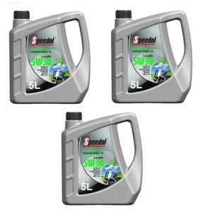 15 litre sae 5w 30 speedol engine oil longlife vw bmw ll 04 mb ebay. Black Bedroom Furniture Sets. Home Design Ideas
