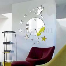 3D DIY Mirror Fairy Stars Acrylic Wall Sticker Decal Home DIY Art Decoration