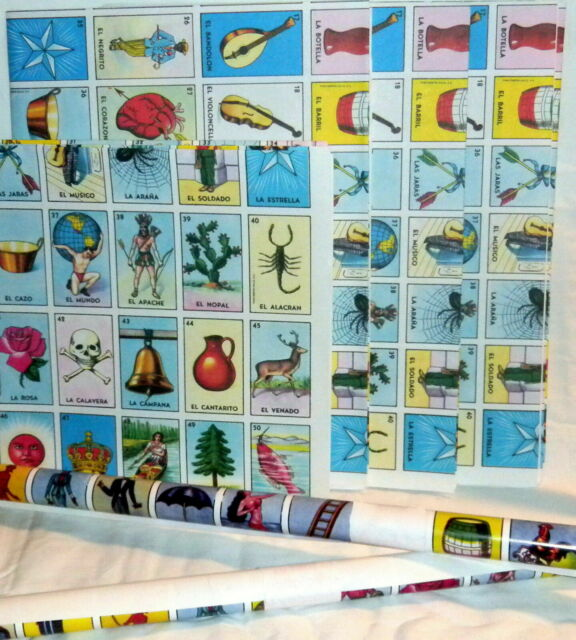 20 Boards 2 X Authentic Mexican Loteria Bingo Chalupa Game 2 Deck Of 54 Cards