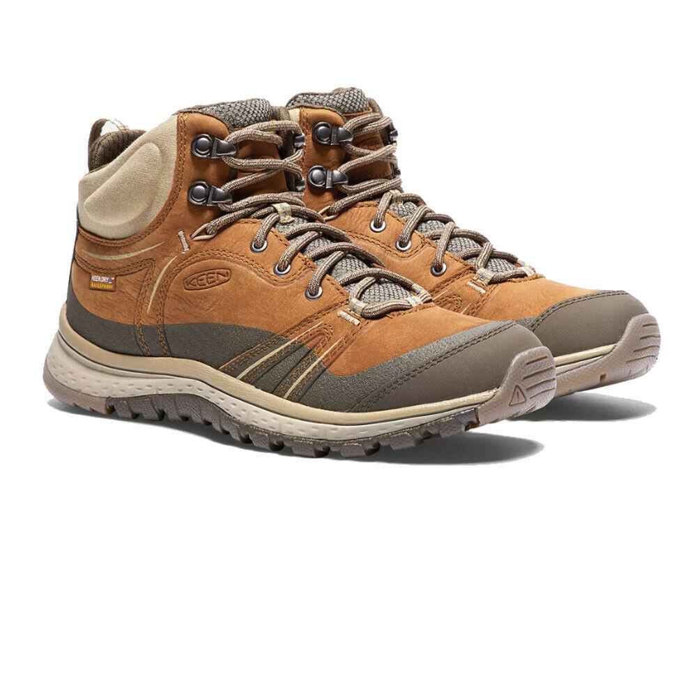 Keen Womannens Terradora Leer Mid wandelen schoenen Sand Sports Trainers