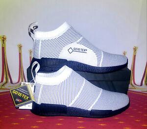 MENS ADIDAS NMD CS1 GTX PK BY9404 Sneaker Gore Tex Primeknit White Black Siz 10