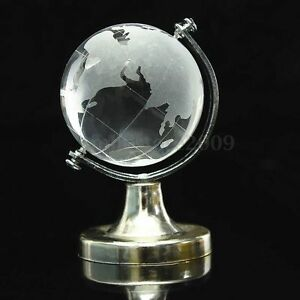 Round-Earth-Globe-World-Map-Crystal-Glass-Clear-Paperweight-Stand-Desk-Decor