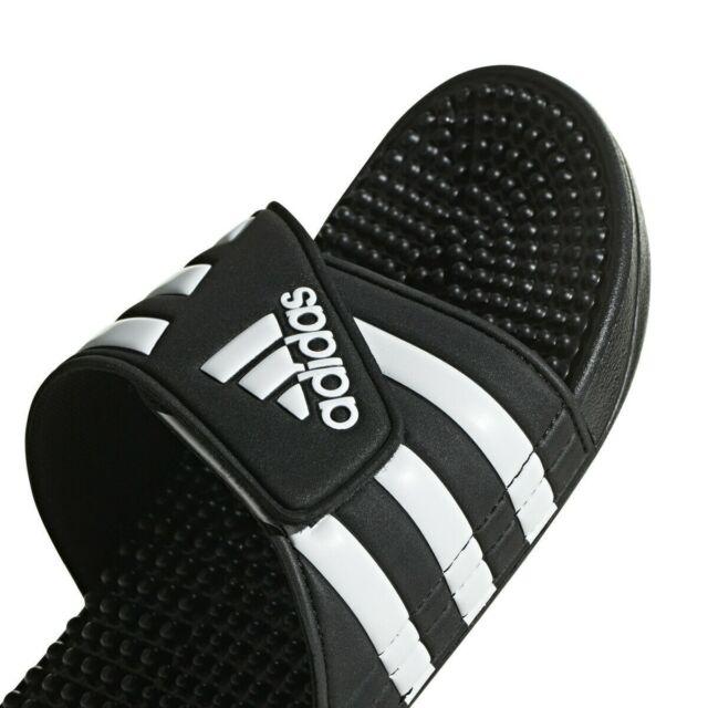 adidas Adissage Black Slides Shower Athletic Sport Sandals 078260 Men's Sz  8-13 15 for sale online | eBay