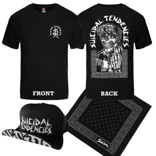 SUICIDAL TENDENCIES Official EXCLUSIVE ONE FINGER T-Shirt Hat Bandana COMBO !