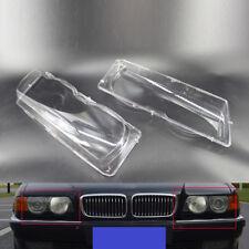 BMW 7 Series E38 Facelift 98-01 Headlight Lenses Covers PAIR OEM
