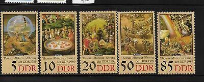 SchöN Briefmarken Ddr 3269-3273 Postfrisch, 500. Geburtstag Thomas Müntzer (ii)