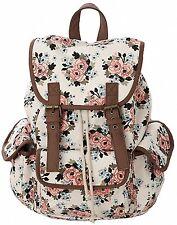 Kenox Canvas School College Backpack Bookbags for Girls Students Women