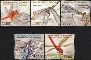 Dragonflys D'afrique/insecte Stamp Set (2012 Burundi)-afficher Le Titre D'origine